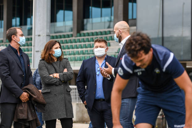FRA: Sports Minister Roxana MARACINEANU visit a rugby club relating to the Coronavirus epidemic