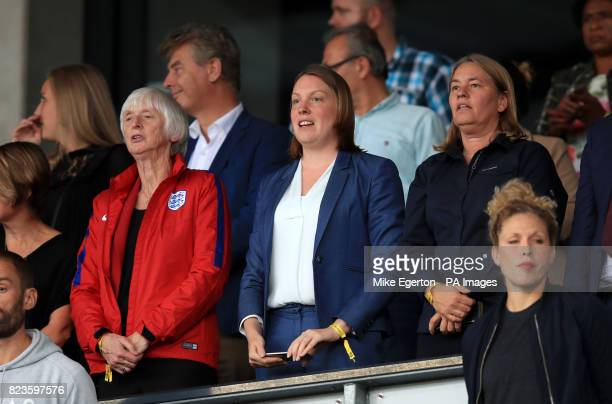 Sports Minister Tracey Crouch in the stands during the UEFA Women's Euro 2017 Group D match at the Koning Willem II Stadion Tilburg