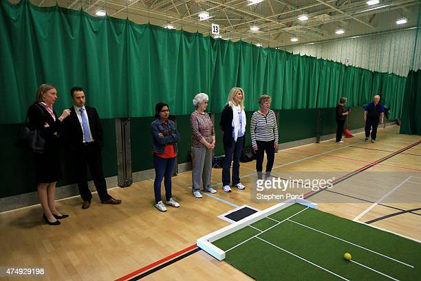 Sports Minister Tracey Crouch MP is taken on a tour during her visit the Sport England 'Fit for Fun' project at the University of East Anglia on May...