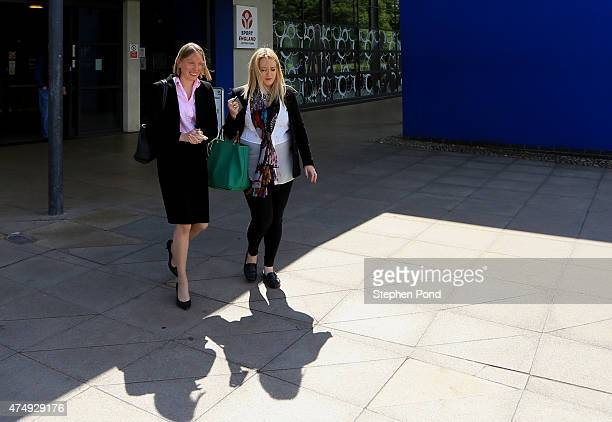 Sports Minister Tracey Crouch MP visits the Sport England 'Fit for Fun' project at the University of East Anglia on May 28 2015 in Norwich England