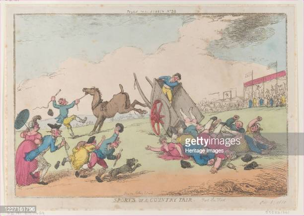 Sports of a Country Fair Part the First October 5 1810 Artist Thomas Rowlandson