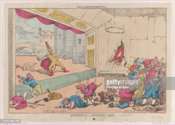 Sports of a Country Fair Part the Third October 5 1810 Artist Thomas Rowlandson
