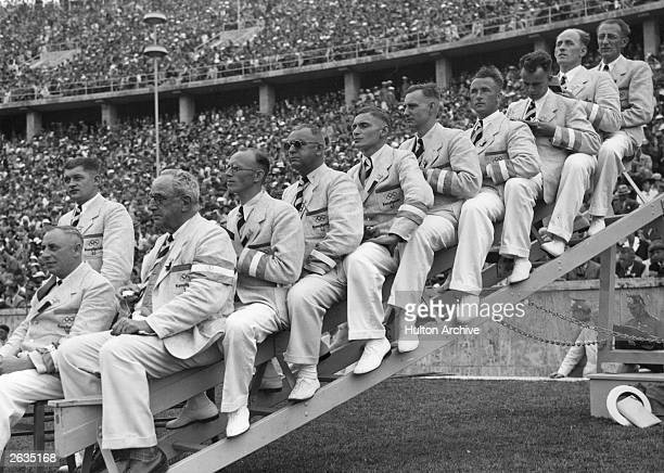 Sports officials at the 1936 Berlin Olympics