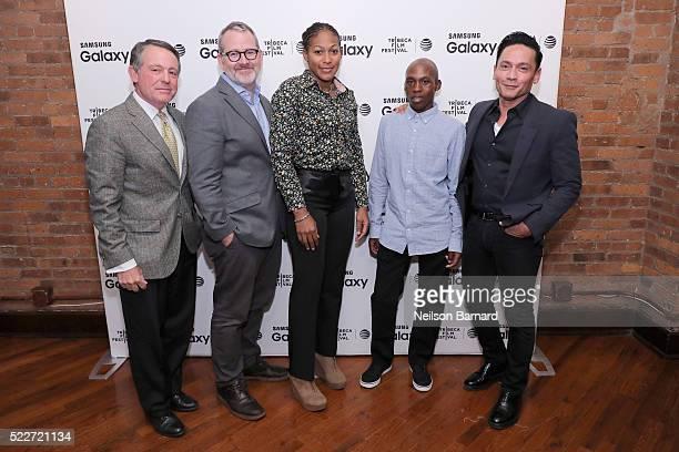 NBC Sports Olympic Games Broadcaster Jimmy Roberts Academy Award winning filmmaker Morgan Neville Olympic Games hopefuls Tsepo Mathibelle and...