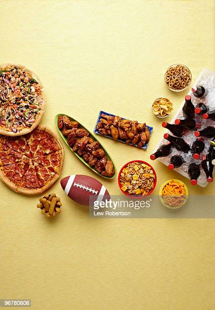 Sports party foods and drinks.