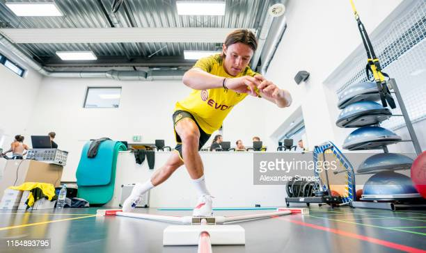 Sports performance medical diagnostics of Borussia Dortmund with Nico Schulz on July 10 2019 in Dortmund Germany