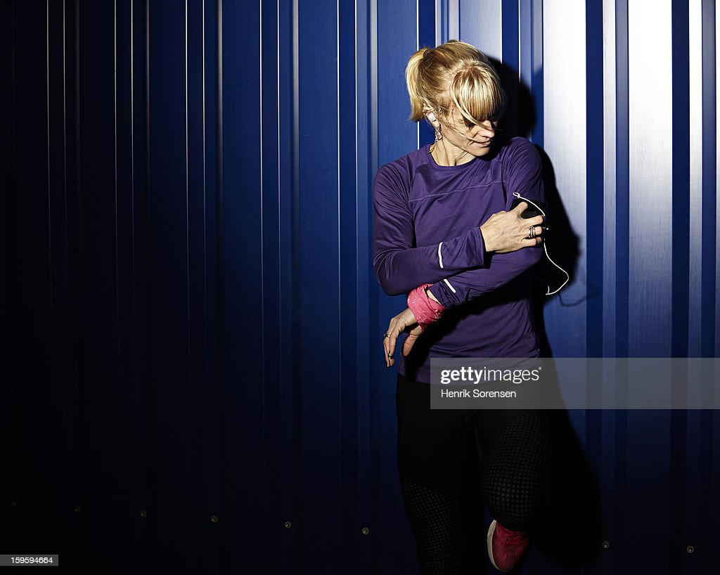 Sports portrait(Young woman) : Photo
