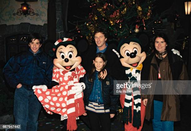 Sports Presenter Henri Sannier at Disneyland for Christmas