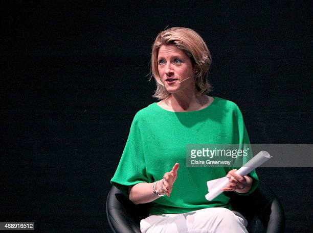 Sports Presenter Jacqui Oatley chairs a panel discussion at the Womenomics conference hosted by BNY Mellon and Newton Investment Management at Ham...