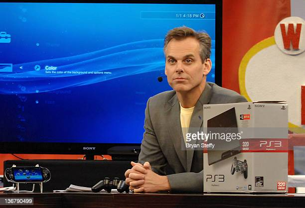Sports radio personality Colin Cowherd broadcasts SportsNation in 3D from the ESPN 3D section at The 2012 International CES at Las Vegas Convention...