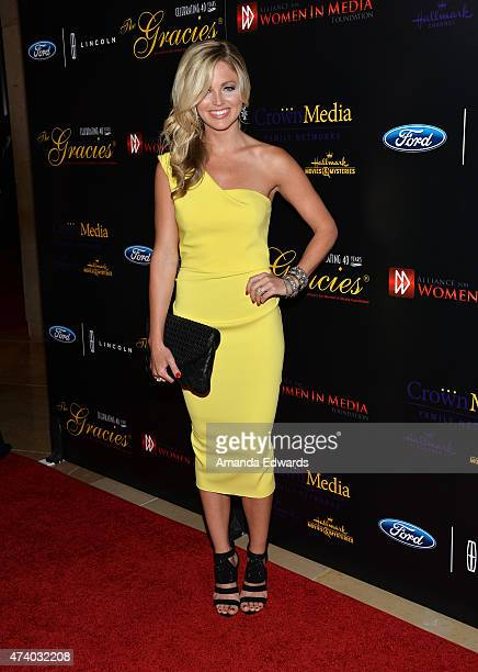 Sports reporter Allie LaForce arrives at the 40th Anniversary Gracies Awards at The Beverly Hilton Hotel on May 19 2015 in Beverly Hills California