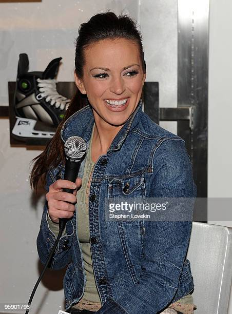 Sports reporter Carrie Milbank attends the NHL Powered by Reebok Store to promote Tooth Fairy on January 20 2010 in New York City