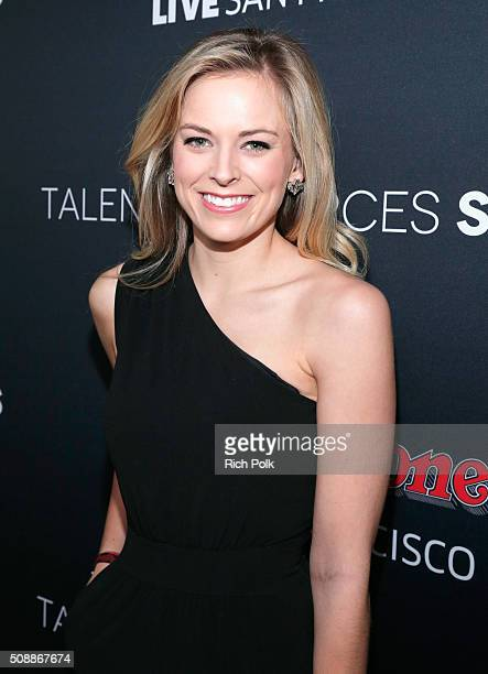 Sports reporter Jamie Erdahl attends Rolling Stone Live SF with Talent Resources on February 6 2016 in San Francisco California