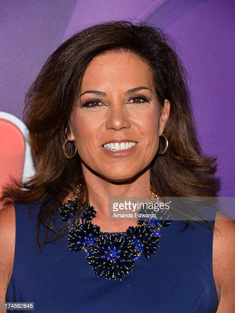 Sports reporter Michele Tafoya arrives at the 2013 Television Critics Association's Summer Press Tour NBC Party at The Beverly Hilton Hotel on July...