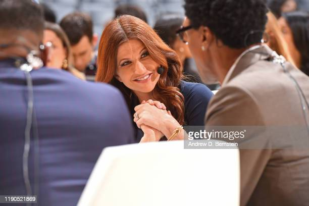 Sports reporter, Rachel Nichols, looks on before the game on December 25, 2019 at STAPLES Center in Los Angeles, California. NOTE TO USER: User...