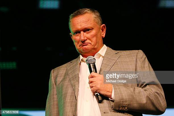 Sports Scientist Stephen Dank answers questions related to the Essendon Football Club doping scandal during the Riddell Football Netball Club...