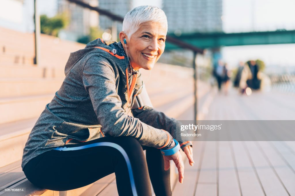 Sports senior woman : Stock Photo