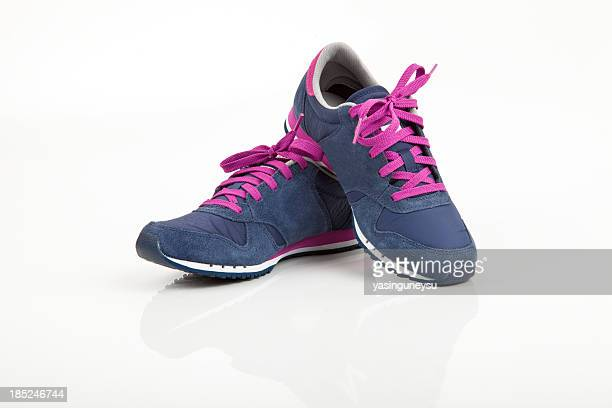 sports shoe - blue shoe stock pictures, royalty-free photos & images