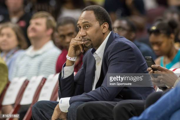 Sports show host Stephen A Smith during a BIG3 Basketball league game on July 16 2017 at Wells Fargo Center in Philadelphia PA