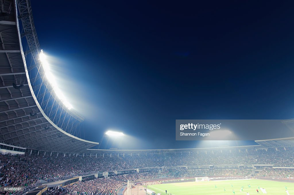 Sports stadium arena game at night : Stock Photo