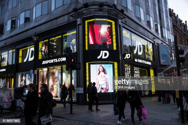 Sports store seen in London famous Oxford street Central London is one of the most attractive tourist attraction for individuals whose willing to...
