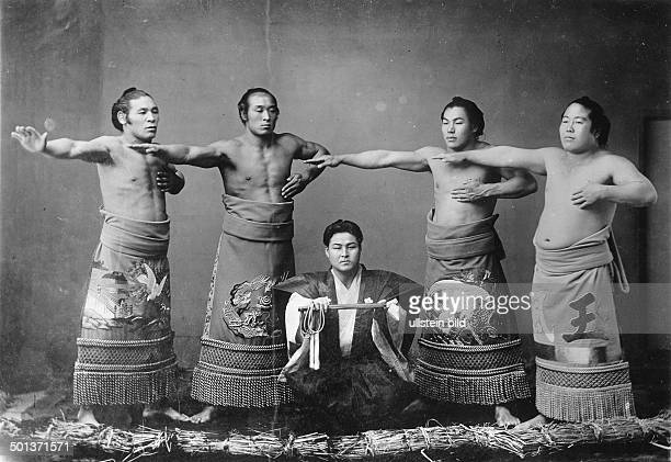 sports / sumo athletes pose in a photostudio