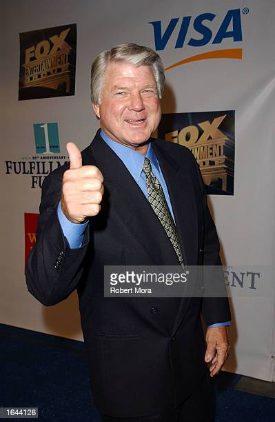 "Sports television analyst and former NFL coach Jimmy Johnson attends the Fulfillment Fund's 25th Anniversary ""Stars 2002"" Benefit Gala at the FOX..."