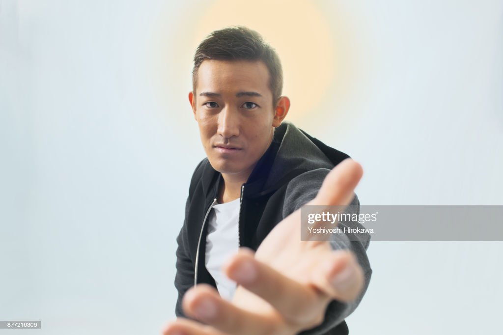 Sports trainer Young man's portrait : Stock Photo