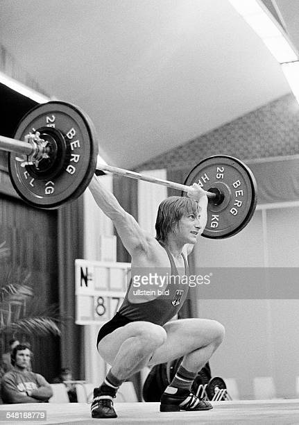sports weightlifting EWG Cup 1973 weightlifter DOberhausen Ruhr area North RhineWestphalia
