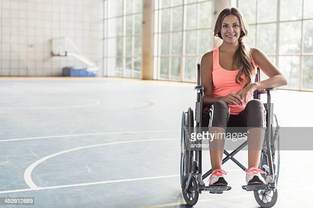 Sport Femme dans un fauteuil roulant