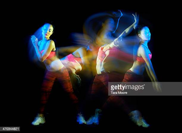 sports woman moving with motion blur - entertainment occupation stock pictures, royalty-free photos & images