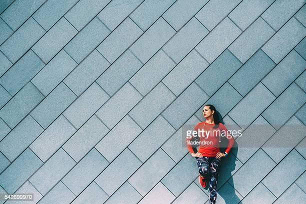 Sports Woman Resting