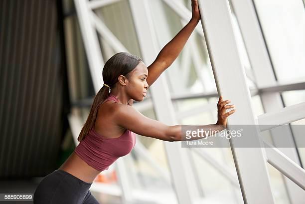sports woman stretching