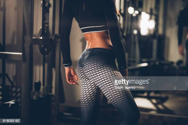 sports woman's body - woman bum stock photos and pictures