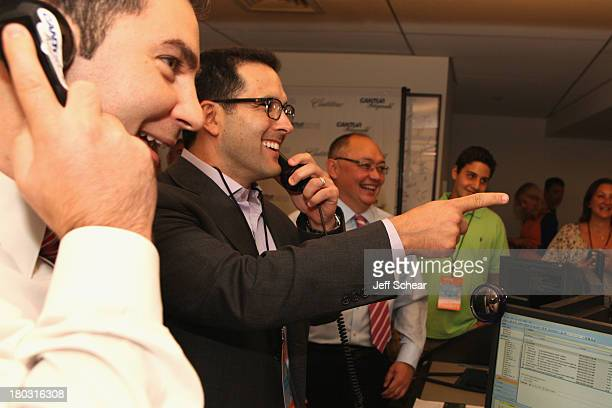Sports Writer Adam Schefter fundraises at the Annual Charity Day Hosted By Cantor Fitzgerald And BGC at the Cantor Fitzgerald Office on September 11...