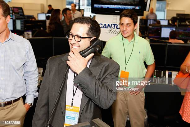 Sports Writer Adam Schefter fundraises for the Annual Charity Day Hosted By Cantor Fitzgerald And BGC at the Cantor Fitzgerald Office on September 11...