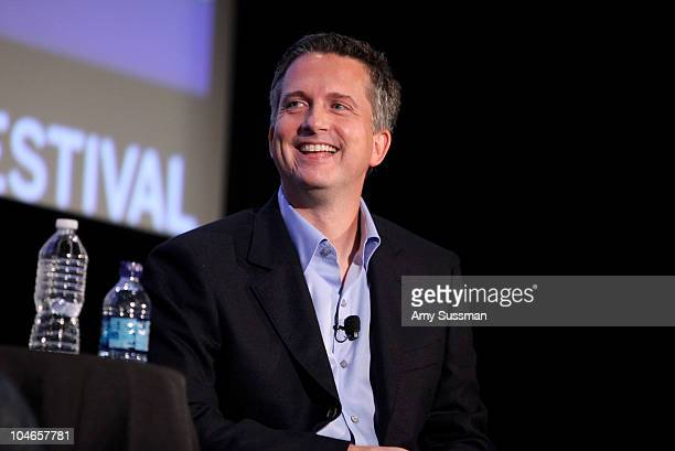 Sports writer Bill Simmons speaks at the 2010 New Yorker Festival at DGA Theater on October 2 2010 in New York City