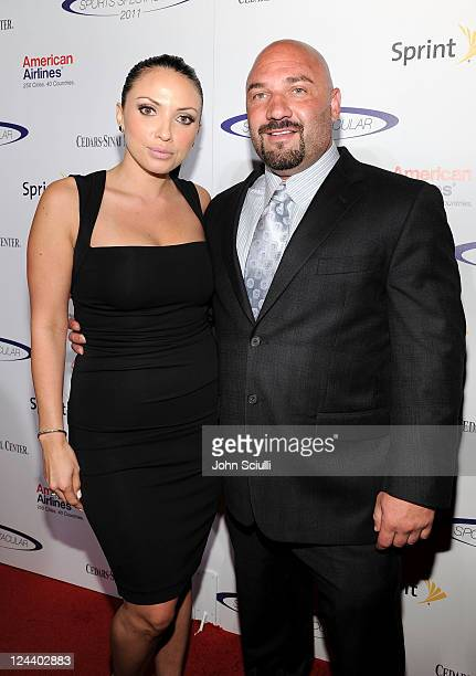 Sports writer Jay Glazer and guest arrive at the 2011 Cedars Sinai Sports Spectacular at Hyatt Regency Century Plaza on May 22 2011 in Beverly Hills...