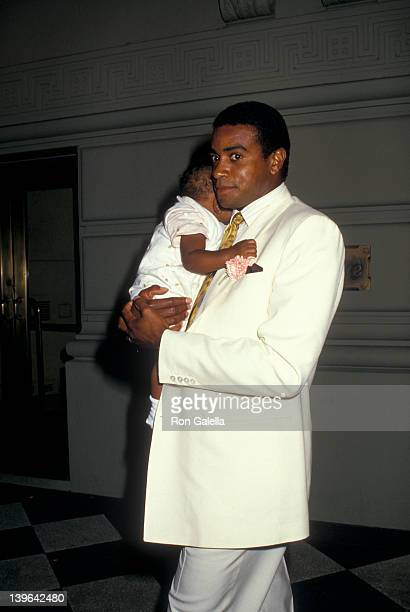 Sportscaster Ahmad Rashad and daughter Condola Rashad attending 'Humanitarian Awards Benefiting MD Telethon' on September 1 1987 at the Pierre Hotel...