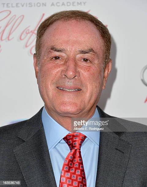 Sportscaster Al Michaels attends the Academy of Television Arts Sciences' 22nd Annual Hall of Fame Induction Gala at The Beverly Hilton Hotel on...