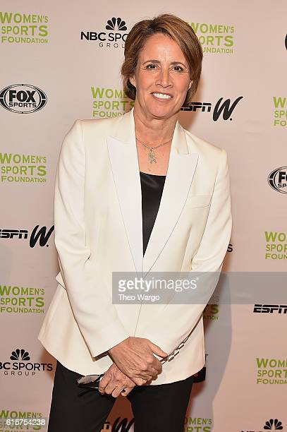 Sportscaster and Evening CoHost Mary Carillo attends the 37th Annual Salute To Women In Sports Gala at Cipriani Wall Street on October 19 2016 in New...