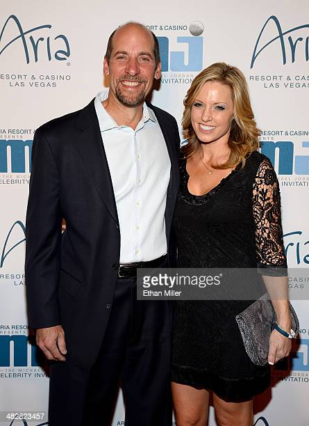 Sportscaster and former Major League Baseball pitcher John Smoltz and wife Kathryn Darden arrive at the 13th annual Michael Jordan Celebrity...