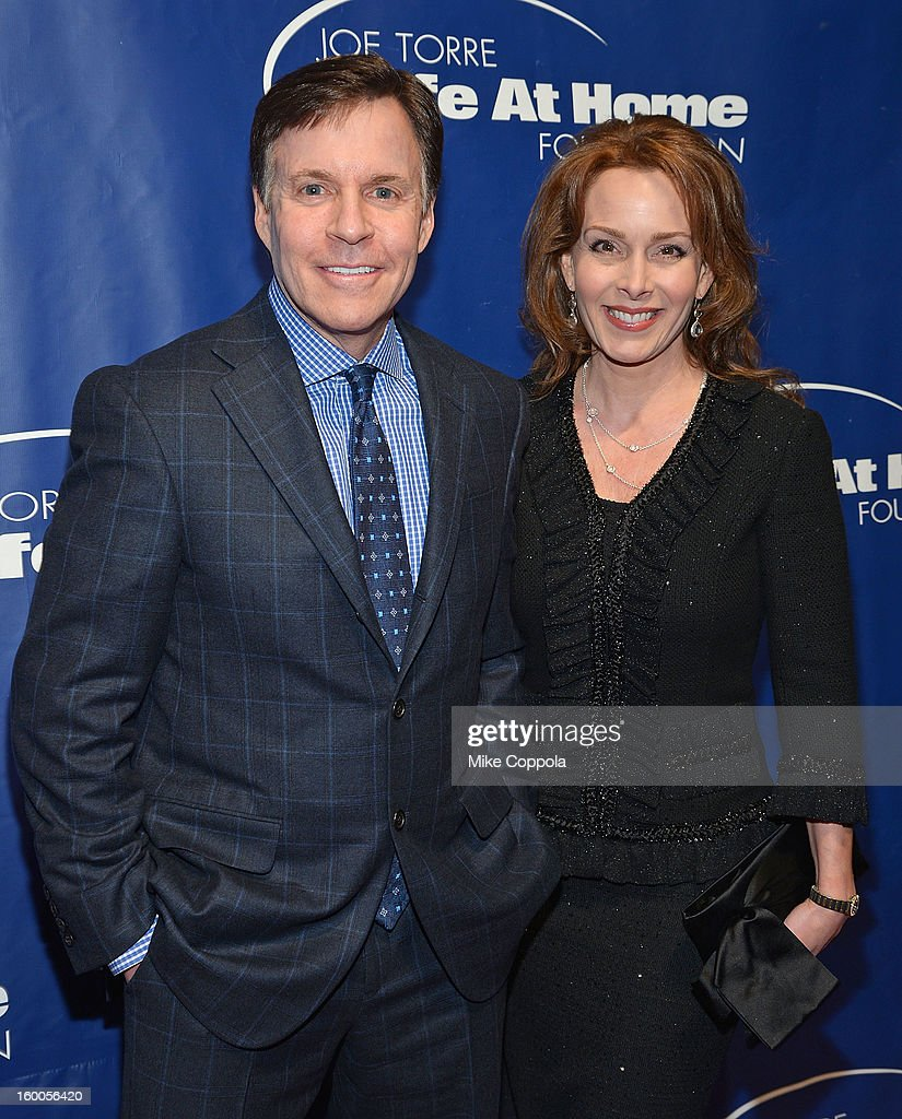 Sportscaster Bob Costas (L) and Jill Sutton attend Joe Torre's Safe At Home Foundation's 10th Anniversary Gala at Pier 60 on January 24, 2013 in New York City.
