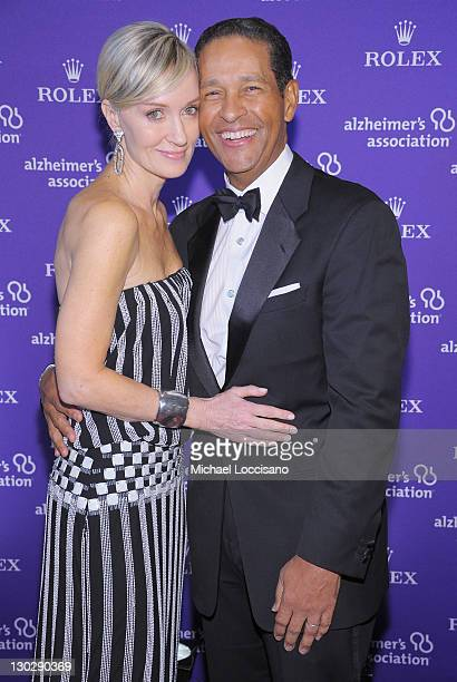 Sportscaster Bryant Gumbel and his wife Hilary Quinlan Gumbel attend the 2011 Rita Hayworth Gala at The Waldorf=Astoria on October 25 2011 in New...
