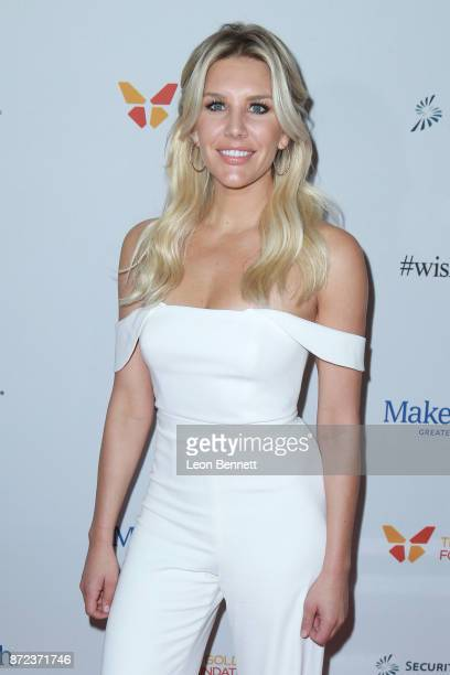 Sportscaster Charissa Thompson attends the MakeAWish Greater Los Angeles 2017 Wish Gala at Hollywood Palladium on November 9 2017 in Los Angeles...