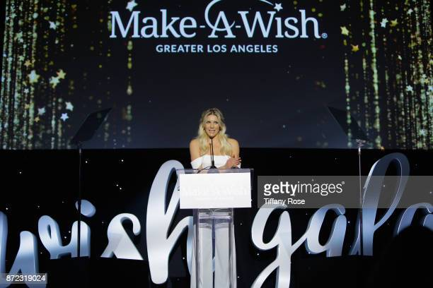 Sportscaster Charissa Thompsonat speaks onstage at the 2017 Make a Wish Gala on November 9 2017 in Los Angeles California