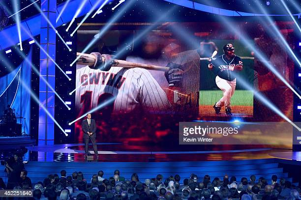 Sportscaster Chris Berman speaks onstage during the 2014 ESPYS at Nokia Theatre LA Live on July 16 2014 in Los Angeles California