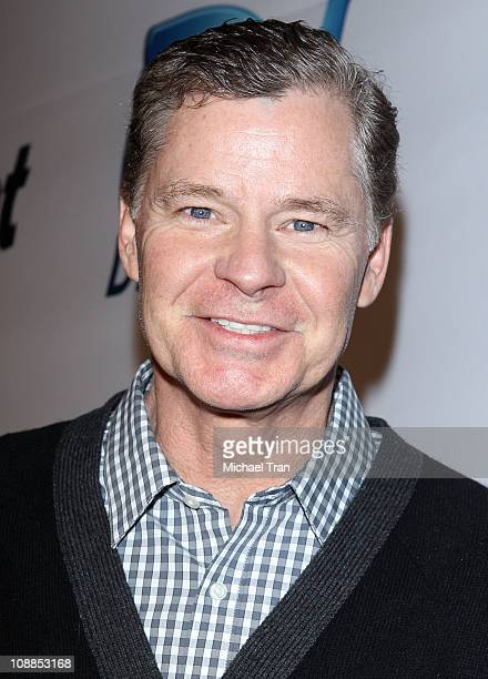 Sportscaster Dan Patrick arrives at Super Bowl Party hosted by DIRECTV and Mark Cuban's HDNet at Victory Park on February 5 2011 in Dallas Texas
