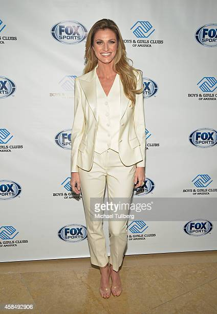 Sportscaster Erin Andrews attends Boys Girls Clubs Annual Great Futures Gala honoring FOX Sports at The Beverly Hilton Hotel on November 5 2014 in...