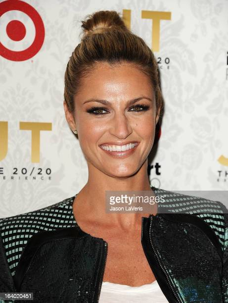 Sportscaster Erin Andrews attends the '20/20' album release party with Justin Timberlake at El Rey Theatre on March 18 2013 in Los Angeles California